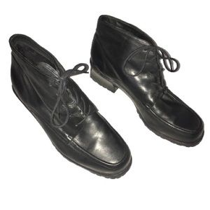 Enzo Angiolini Black Leather Ankle Boots Heel 9